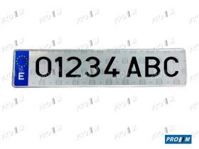 Accesorios 1001 - Placa matrícula Azul Taxi  Y Alquiler