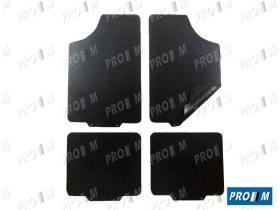 Accesorios 10099 - Juego de alfombras reversibles goma universales