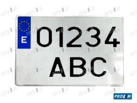Accesorios 1011 - Placa matrícula Europe larga