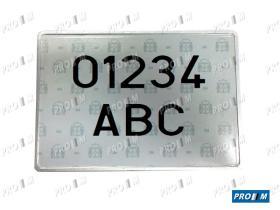 Accesorios 1013 - Placa matrícula antigua larga