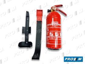 Accesorios 1K - Extintor 1 kg con manómetro y soporte