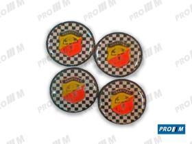 Accesorios TLRAG - Juego de tapacubos Abarth Racing (4 unids.)