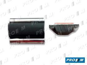 Accesorios V101 - Moldura negra cromada 17mm universal