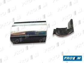 Accesorios V114C - Moldura negra cromada 30mm universal