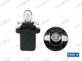 Pro//M Lámparas 125RL - Lámpara tacógrafo Wedge plastic base negra 12V 1,2W
