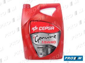 Cepsa 5L 15W40 - Aceite Cepsa Genuine 15W40 5 litros