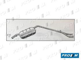 Fonos 31004 - Silencioso trasero Ford Fiesta XR2 81-83