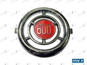 Coche clásico 081 - Bigotera anagrama cuadrado Seat 600 E-L