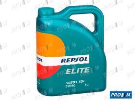 Repsol 5L5W4 - Aceite Repsol Elite Tdi 5W40 50501 5 Litros
