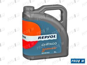 Repsol 5L8090 - Aceite Repsol Cartago EP 80W90 5 Litros