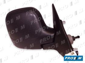 Espejos < año 2000 14602 - Espejo derecho mecánico negro Citroen Xsara