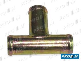 Caucho Metal 11018 - Racor 3 vías 20mm 10mm 20mm