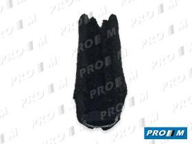 Caucho Metal 190019 - Burlete de puerta negro por metros