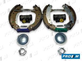Frenos/hidráulica 101850R - Kit de freno tambor trasero premontado