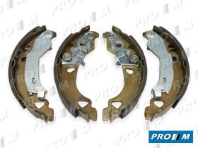 Frenos/hidráulica M0165 - Juego zapatas de freno Seat Fiat