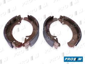 Frenos/hidráulica M0282 - Juego zapatas de freno Fiat Ducato-C25-J5  81-94