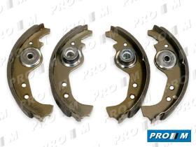 Frenos/hidráulica M0313 - Juego zapatas Fiat Ducato  C25   J5  81->94