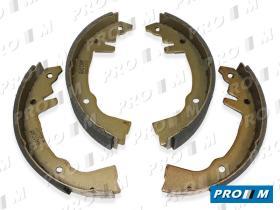Frenos/hidráulica M1058 - Juego zapatas de freno sistema Girling 180X42MM