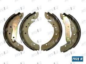 Frenos/hidráulica M1172 - Juego zapatas de freno 228X42MM sistema girling