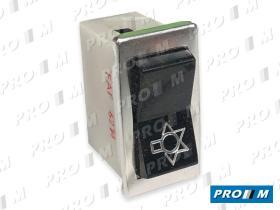 Fae 62140 - Interruptor de limpias marco cromado