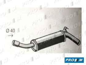 Fonos 1052 - Silencioso intermedio Seat 1200 Sport