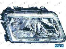Pro//M Iluminación 11122002 - Faro izquierdo H7+H1 Audi A3 96