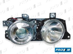 Pro//M Iluminación 11202106 - Faro Bmw E34 izq. H1+H1 ele/man 89-95