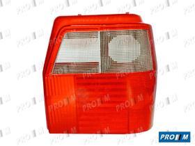 Pro//M Iluminación 16300212 - Tulipa trasero izquierdo Fiat Uno 89-93 ahumado