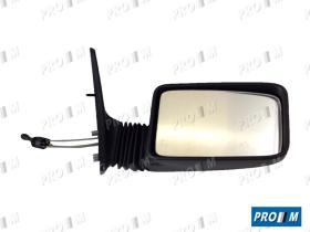 Pro//M Iluminación 24541112 - Espejo derecho con mando con cables Peugeot 309