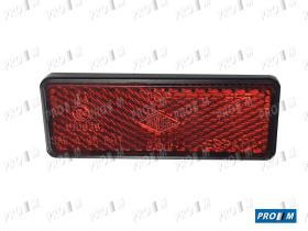 Rinder 703R00 - Reflex rectangular rojo 76X29mm