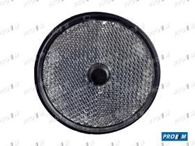 Rinder 746I00 - Réflex ámbar redondo agujero borde negro