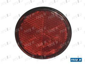 Rinder 751R00 - Réflex blanco redondo tornillo borde negro 84mm