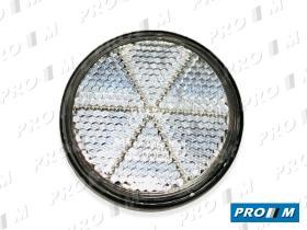 Rinder 751I00 - Reflex redondo blanco 84mm