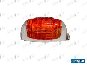 Iluminación (hasta '90) 0123900045 - Piloto redondo verde cromo plano MB chata 0319
