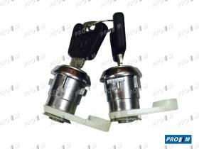 Clausor 3906 - Bombin pulsador de puerta con llave Simca 900-1000