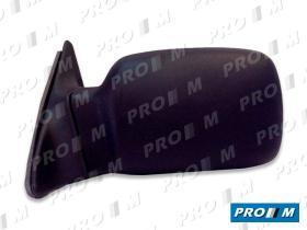 Spj E0100 - Espejo retrovisor izquierdo Seat Ibiza 89-91 5ptas c/mando
