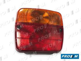 Prom Iluminación P127 - Piloto izquierdo de camión con réflex blanco 125X90X70