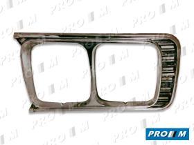 Seat Clásico BF1430I - Bisel de faro derecho negro Seat 1430