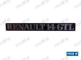 """Renault Clásico R1842 - Anagrama trasero """"Renault 14 GTL"""""""