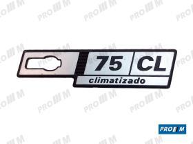 """Seat Clásico S1806 - Anagrama derecho aleta Ritmo """"75CL"""""""