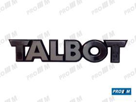 """Talbot T1017 - Anagrama """"""""TALBOT"""""""" Modelo pequeño Horizón 13,5cm X 3cm"""