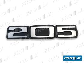 "Material Peugeot ANA205 - Anagrama trasero Peugeot ""205"""