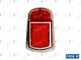 Iluminación (hasta '90) 0124300021 - Piloto trasero rojo redondo Citroen Mehari