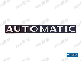 """Material Peugeot P1206 - Anagrama Peugeot """"""""AUTOMATIC"""" 135mmx20mm"""