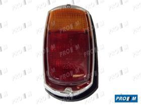 Iluminación (hasta '90) 021410 - Piloto trasero rojo ámbar ovalado Dkw 3ª Serie