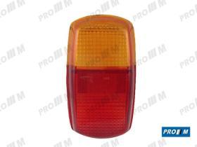 Iluminación (hasta '90) 021404 - Tulipa trasera rojo ámbar ovalada DKW 3ª Serie