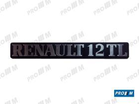 """Renault Clásico 260839 - Anagrama trasero metálico """"Renault 12 TS"""""""