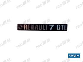 Renault Clásico 350834 - Anagrama trasero Renault 7 GTL