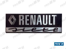 Renault Clásico R1903 - Anagrama trasero Renault 7 TL  7702101375