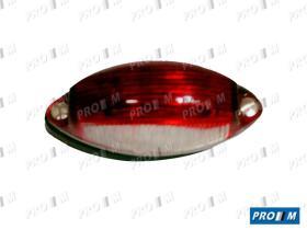 Iluminación 0122000060 - Piloto universal rojo con luz de matricula 95x38